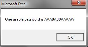 Usable password