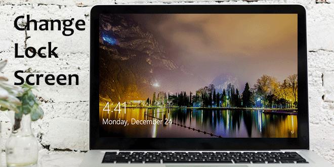 change windows 10 lock screen