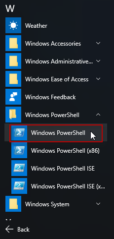 Open Windows PowerShell