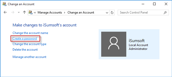 Create a password