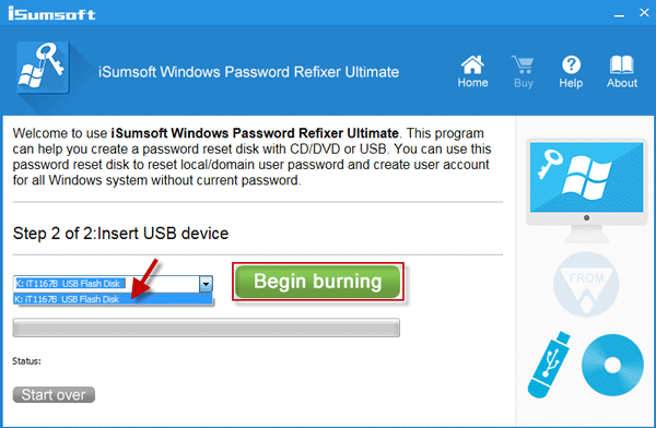 Burn to USB flash drive