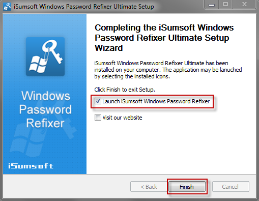 Launch Windows Password Refixer