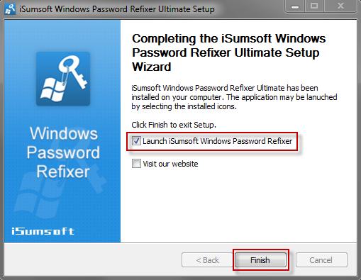 Launch Windows Password Refixer