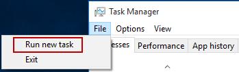Run new task