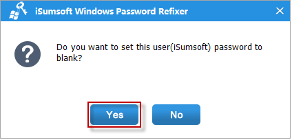 Reset password to blank