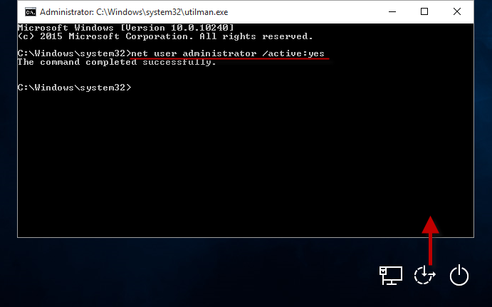 Enable hidden administrator account in Windows 10