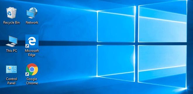 display desktop icons on windows 10
