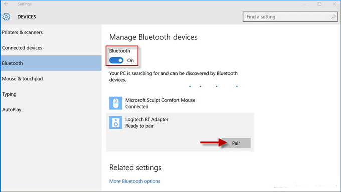 How to turn onoff bluetooth on windows 10 laptop isumsoft turn onoff bluetooth ccuart Gallery