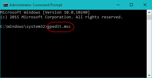 Type gpedit.msc and press Enter
