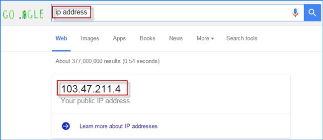 Display public IP address of Windows 10 computer