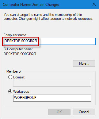 Delete the old name and type new name