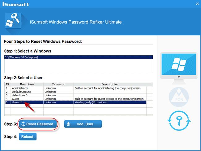 Reset Windows 10 Microsoft account password