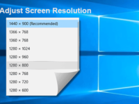 adjust screen resolution in windows 10