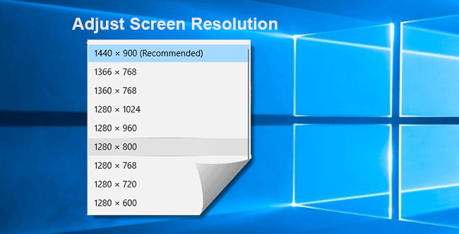 adjust screen resolution in windows 10