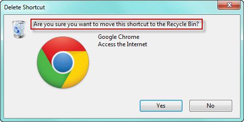Delete confirmation dialog box