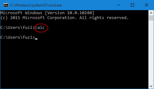 open calculator by command prompt