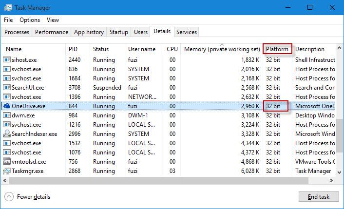Check if program is 32-bit or 64-bit