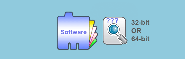 check if software is 32-bit or 64-bit