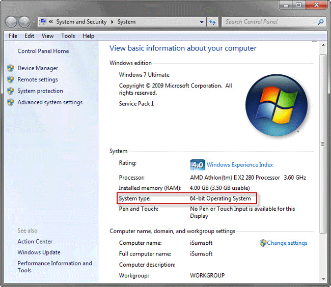 How to check if your windows is 32 bit or 64 bit isumsoft for Window 64 or 32