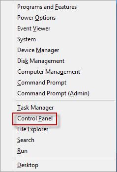 Click Control Panel