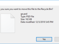 enable delete confirmation dialog