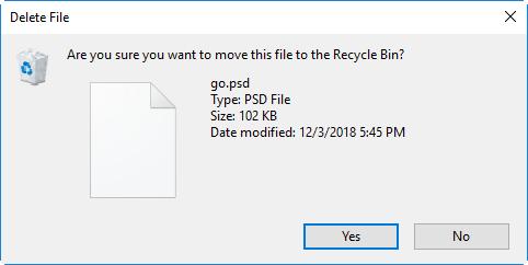 enable delete confirmation dialog