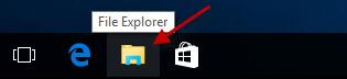 click File Explorer icon on taskbar