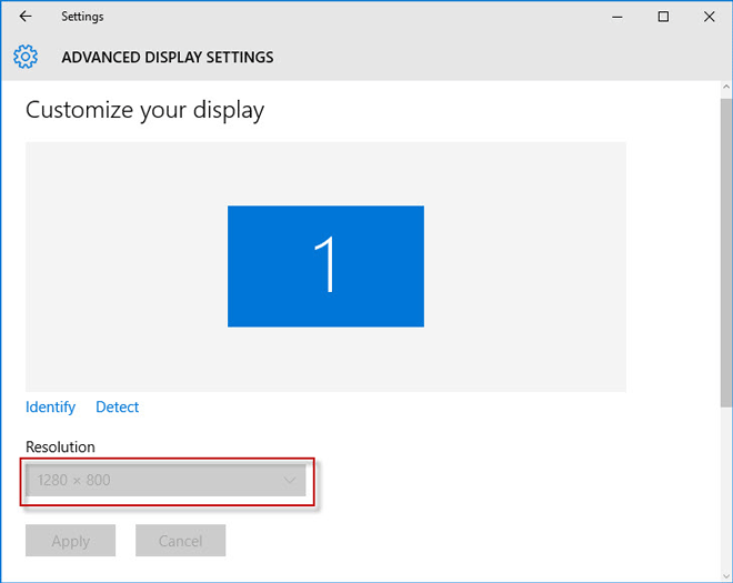 Windows 10 change screen resolution grayed out