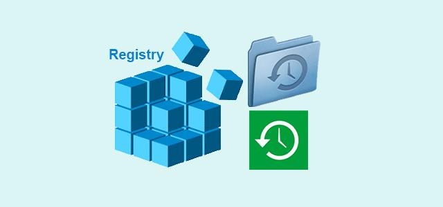 backup or restore registry in windows 10