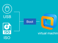 boot vm from usb or iso file