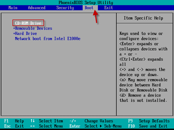 Boot virtual machine from iso image