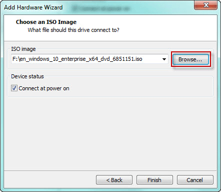 Open ISO image file