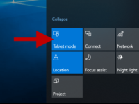 enable or disable tablet mode in windows 10