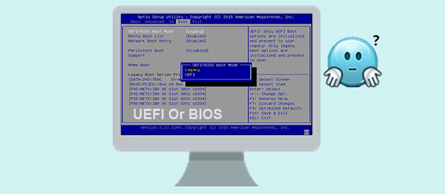 how to know if computer uses uefi or bios
