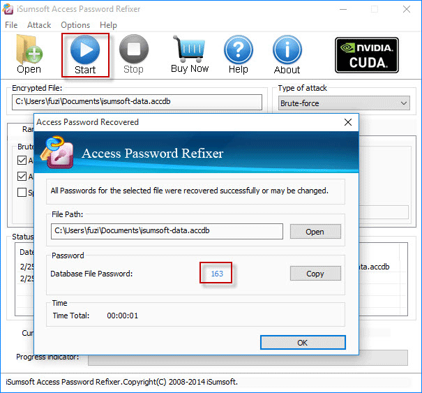 Recover Access database password