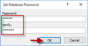 reset a new database password