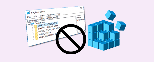 disable access to registry editor windows 10