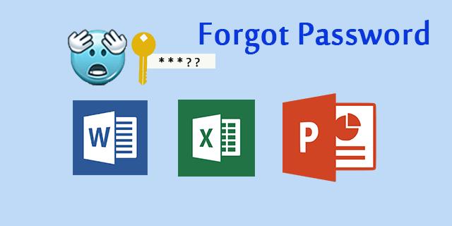 forgot office document password