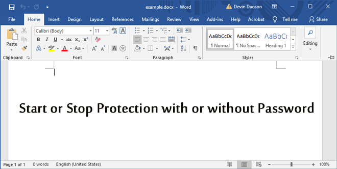 how do i remove document protection in word 2010