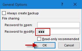 delete password to modify