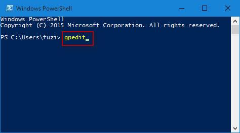 Type gpedit in PowerShell