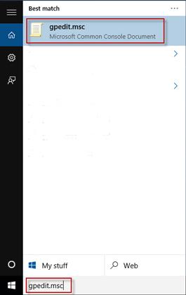 local group policy editor windows 10