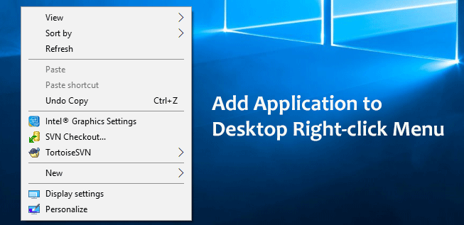 add application to right-click
