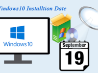 check windows installation date