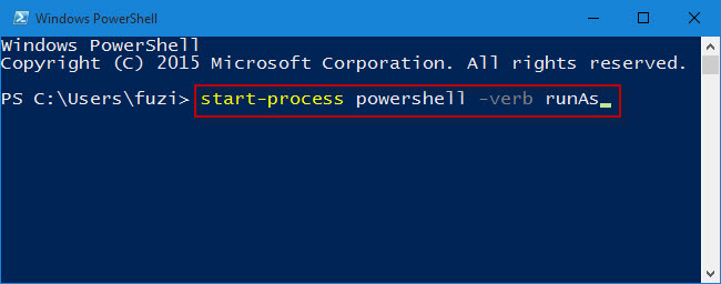 how to start windows powershell