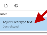 cleartype text