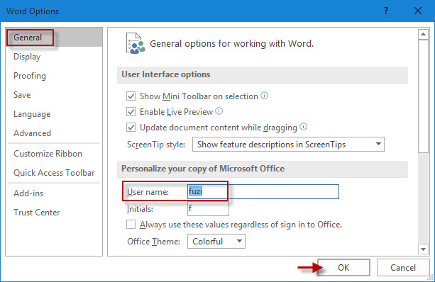 how to change author name in word 2016 document isumsoft