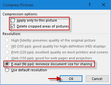 Choose compress options