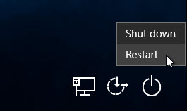 restart windows 10