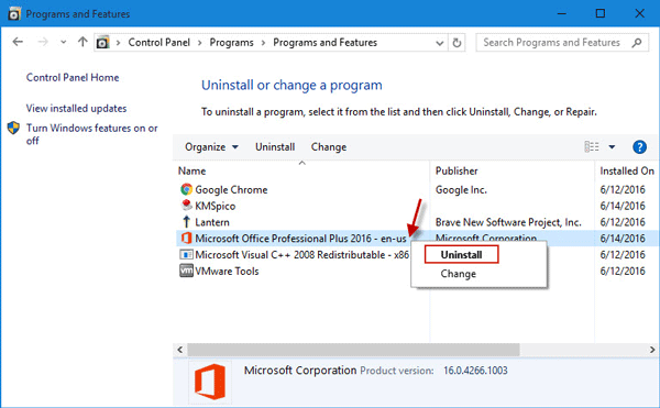 Ways to Completely Uninstall Office 2016 in Windows 10 | iSumsoft